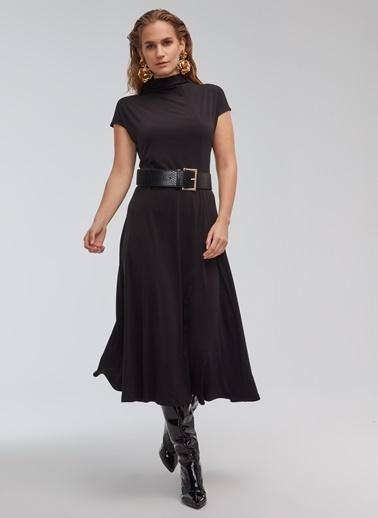 People By Fabrika Parçalı Elbise Siyah